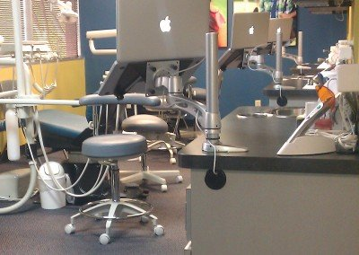 Laptops at Chairs